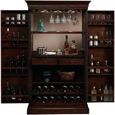 Wine Glass Storage Cabinet by Wine Rack Arianna Brown Stain Home Bar Wine Cabinet Liquor