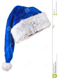 blue santa hat blue magic santa hat stock image image 16302571
