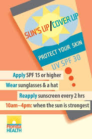 sun s up cover up department encourages sun safety during warm