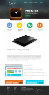 new website template of the month