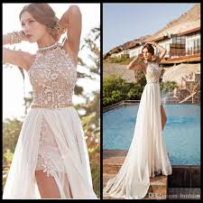 white lace prom dress julie vino lace beaded chiffon high low white lace prom