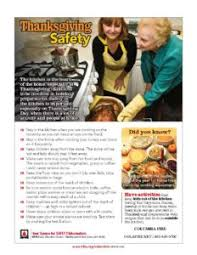 thanksgiving cooking safety columbia department