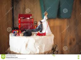 mechanic cake topper wedding cake topper with mechanic groom editorial stock