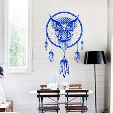 dreamcatcher wall stickers indian religion owl totem feathers undefined