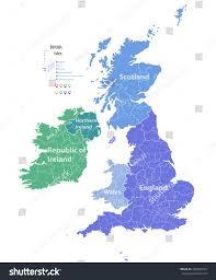 British Isles Map Vector Map British Isles Stock Vector 469904594 Shutterstock
