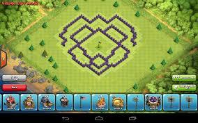 layout design th7 th7 farm design clash of clans wiki