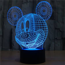 3d night light for mickey mouse elsley 7 color touch switch table