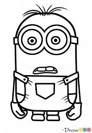 how to draw minion dave cartoon characters how to draw drawing