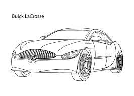 super car buick lacrosse coloring cool car printable free