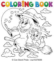 eps vectors coloring book halloween image 1 eps10 vector