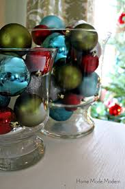 green red and blue christmas decorations home made modern