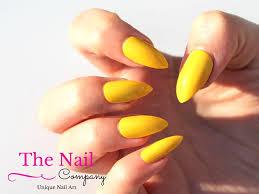 yellow fake nails set of handpainted false nails stiletto