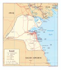 kuwait on a map kuwait maps perry castañeda map collection ut library