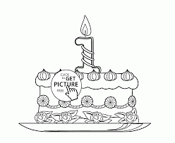 1st birthday cake coloring page for kids holiday coloring pages
