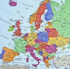 Maps Good Good Map Of Europe Western Europe Seas Oceans And Mountains Good
