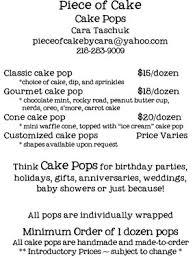 cake pop prices of cake cone meet cake pop