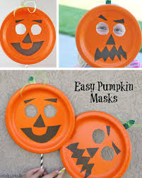 pumpkin mask easy paper plate pumpkin mask onecreativemommy