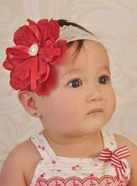 baby hair band baby headbands headband lace flower girl christening wedding white