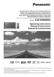 download free pdf for panasonic cq vd6505u car video manual