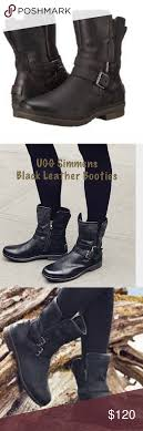 ugg s estelle ankle boots ugg s simmens all leather bootie size 9m metal buckles