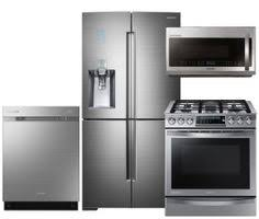 Stainless Steel Kitchen Set by Samsung Appliance Rf263beaesg4pckit2 Black Stainless Steel Series