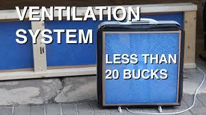 Whole House Ventilation Unit Diy Garage Ventilation System For Under 20 Youtube