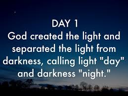 what day did god create light how earth was created by dorimar garcia