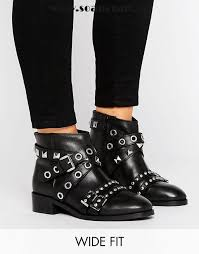 womens wide ankle boots canada black shoes asos ancha leather cut out ankle boots