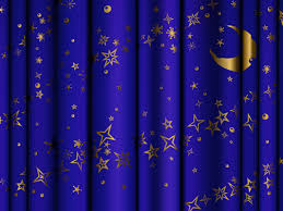 Blue And Gold Curtains Blue Curtains With Gold And Moon Background Gallery