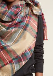 willamette wanderings plaid blanket scarf in classic modcloth