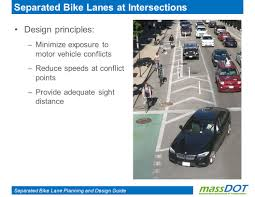separated bike lane planning and design guide separated bike lane