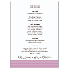 program for memorial service best photos of funeral program wording sles funeral program
