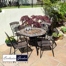 Mosaic Patio Table And Chairs by Belmont Patio Table With Kingswood Chairs
