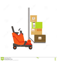 box car clipart orange forklift warehouse car lifting the paper box packages