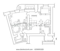 apartments plans set furniture top view apartments plan stock vector floor plan top