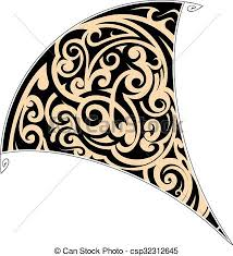 maori tribal tattoo maori style tattoo shaped as stingray eps