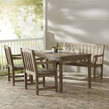 Outdoor Dining Set With Bench Darby Home Co Densmore Rectangular Dining Table Bench And