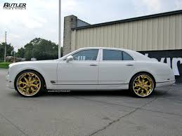 bentley car gold bentley mulsanne with 24in 24k gold forgiato capolavaro wheels 4