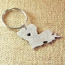 louisiana state map key louisiana map key chain personalized map hammered
