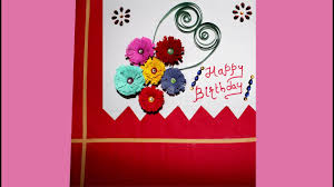 how to make a greeting card for birthday at home birthday card