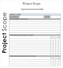 Project Profit And Loss Template Excel 3 Free Project Scope Statement Templates Word Excel Sheet Pdf