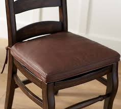 pb classic leather dining chair cushion pottery barn