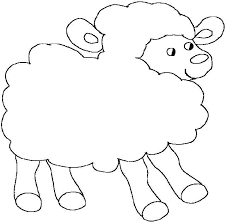 easy color sheep coloring pages kids coloring pages