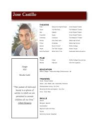 Actor Sample Resume by Acting And Modeling Resume Free Resume Example And Writing Download