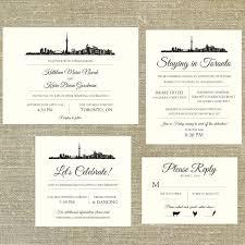 wedding invitations toronto items similar to toronto skyline destination wedding invitation
