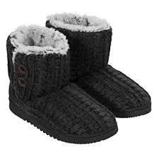 womens slipper boots size 12 amazon com dearfoams s memory foam sweater knit indoor