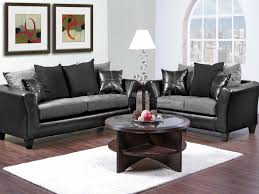 Black And White Leather Living Room Furniture Living Room Design - Gray living room furniture sets