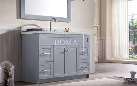 Shaker Style Bathroom Cabinets by Wholesale 48 In Grey Shaker Style Wood Compliant Bathroom Sinks