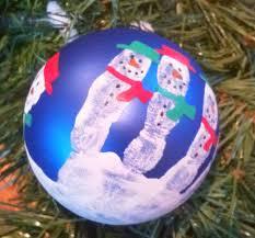 handprint snowman tree ornament macaroni kid