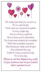 wedding gift list poems 11 best wedding invites images on wedding gift poem